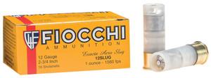 Fiocchi- 12SLUG Exacta Aero 12 Gauge 2.75 1 oz Slug Shot 10 Bx/ 25 Cs