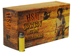 HSM -45702N Cowboy Action  45-70 Government 405 GR Round Nose Flat Point (RNFP) 20 Bx/ 25 Cs