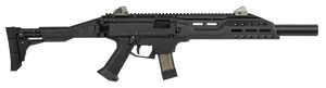 CZ 08507- Scorpion EVO 3 S1 Carbine Faux Suppressor Semi-Automatic 9mm Luger 16.20 20+1 Black Folding Right Side Adjustable Synthetic Stock Black Polymer Receiver