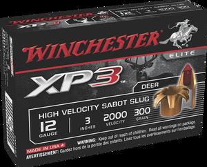 Winchester Ammo -SXP123 XP3 High Velocity 12 Gauge 3 300 GR Sabot Slug Shot 5 Bx