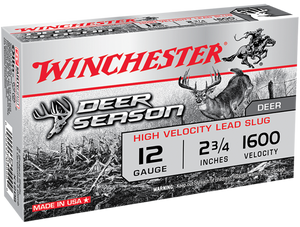 Winchester Ammo X12DS Deer Season High Velocity 12 Gauge 2.75 1 1/4 oz 5 Bx/ 20 Cs