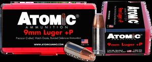 Atomic -00454 Pistol  9mm Luger +P 124 GR Bonded Match Hollow Point 20 Bx/ 10 Cs