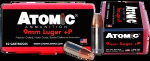 Atomic -00409 Pistol  9mm Luger +P 124 GR Bonded Match Hollow Point 50 Bx/ 10 Cs