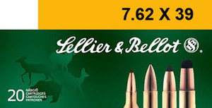 Sellier & Bellot SB76239B Rifle  7.62X39mm 123 GR Soft Point (SP) sold by the case , 600 rounds total (20 rounds per Bx/ 30 boxes per Cs)