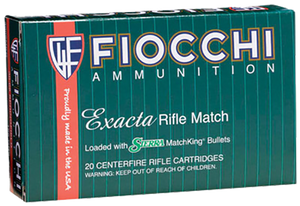 Fiocchi 223MKD Exacta Match 223 Rem/5.56NATO 77 GR Boat Tail Hollow Point (BTHP) 20 Bx