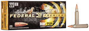 Federal P223F Premium V- Shok 223 Remington/5.56 NATO 55 GR Nosler Ballistic Tip (NBT) 20 Bx