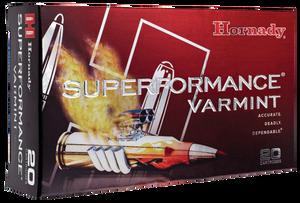 Hornady 8025 Superformance Varmint  223 Remington 53 GR V-Max 20 Bx