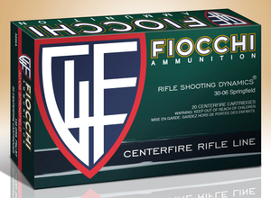 Fiocchi 3006A Shooting Dynamics  30-06 Springfield 150 GR Full Metal Jacket Boat Tail 20 Bx