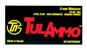Tulammo TA918092 Handgun  9x18 Makarov 92 GR Full Metal Jacket 50 Bx