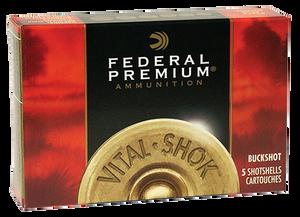 Federal P15800 Premium Vital-Shok 12 Gauge 3 15 Pellets 00 Buck Shot 5 Bx 50 Cs