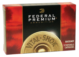 Federal P1584B Premium Vital-Shok 12 Gauge 3 41 Pellets 4 Buck Shot 5 Bx- 50 Cs