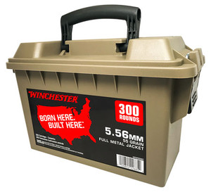 Winchester Ammo -WW556C   5.56 NATO 55 GR Full Metal Jacket (FMJ) 300rd Can