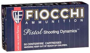 Fiocchi 40SWE Shooting Dynamics  40 S&W 180 GR Jacketed Hollow Point JHP 50 Bx/ 20 Cs