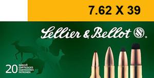 Sellier & Bellot- SB76239B Rifle  7.62X39mm 123 GR Soft Point (SP) 20 Bx/ 30 Cs