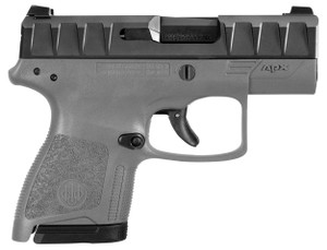 APX CARRY 9MM BLK/GREY 3 8+1BLACK SLIDE/GREY FRAME|2 MAGSLow Bore AxisReversible Mag ReleaseFlat Trigger Guard 6079