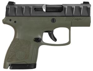 APX CARRY 9MM BLK/ODG 3 8+1BLACK SLIDE/GREEN FRAME|2 MAGSLow Bore AxisReversible Mag ReleaseFlat Trigger Guard 555