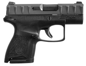 APX CARRY 9MM BLK/BLK 3 8+12 MAGAZINESLow Bore AxisReversible Mag ReleaseFlat Trigger Guard 1345