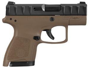 APX CARRY 9MM BLK/FDE 3 8+1BLACK SLIDE/FDE FRAME | 2 MAGSLow Bore AxisReversible Mag ReleaseFlat Trigger Guard 4968