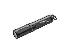 TITAN 15/125LU BLK TWISTTITAN-A | TWIST ON/OFFDuel Output 15-125 LumensUses (1)AAA Battery