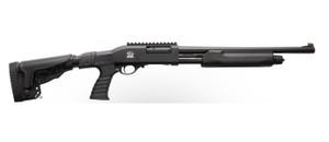 301 TACT PUMP 12/18.5 BK/SY 3930.227|FOLDING STOCK/ADJ COMBMobil Choke Thread Pattern4-Position Side Folding StockPic Rail/Pistol Grip/Adj Comb 7542