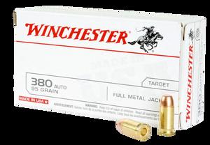 Winchester Ammo -Q4206 USA  380 ACP 95 GR Full Metal Jacket (FMJ) 50 Bx/ 10 Cs