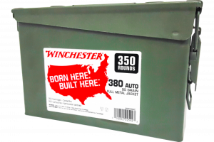 Winchester Ammo- WW380C USA  380 Auto 95 GR Full Metal Jacket (FMJ)700 rounds total