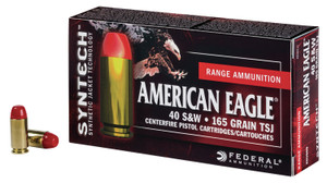Federal AE40SJ1200 American Eagle 40 S&W 165 gr Total Syntech Jacket Flat Nose (TSJFN) 200 Bx/ 5 Cs