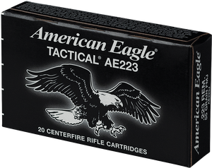 Federal -AE223J American Eagle  223 Rem/5.56NATO 55 GR Full Metal Jacket Boat Tail 20 Bx/ 25 Cs