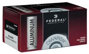 Federal -CAL45230 Champion Training 45 ACP 230 gr Full Metal Jacket (FMJ) 50 Bx/ 20 Cs