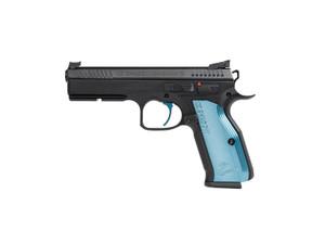"CZ 91245 Shadow 2 9mm Luger 4.89"" 17+1 Black Steel Blue Aluminum Grip"