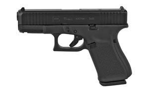 "Glock PA195S203MOS G19 Gen 5 MOS FS 9mm Luger 4.02"" 15+1 Black nDLC Front Serrations Slide Black Interchangeable Backstrap Grip"