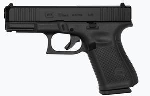 Glock -PA195S203 G19 Gen5 9mm Luger 4.02 15+1 Black Interchangeable Backstrap Black nDLC