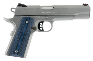 "Colt Mfg O1070CCS 1911 Competition 70 Series 45 ACP 5"" 8+1 Stainless Steel Blue G10 w/Logo Grip"