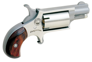 North American Arms Companion Cap & Ball Percussion Revolver Stainless Steel .22 1.125-inch 5 Rds 22LRCB