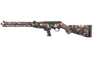 Ruger 19121 PC- Carbine  9mm Luger 16.12 17+1 Black Nitride American Flag Cerakote