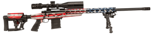 Howa -KCRA72507USK American Flag  Chassis  6.5 Creedmoor 24 10+1 Blued American Flag Cerakote 6 Position Luth-AR MBA-4 w/Aluminum Chassis Stock