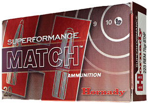 Hornady -81264 Superformance Match  5.56 NATO 75 GR Boat Tail Hollow Point Match 20 Bx/ 10 Cs