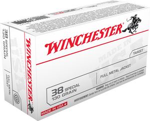 Copy of Winchester Ammo Q4171 USA  38 Special 130 GR Full Metal Jacket (FMJ) 50 Bx/ 10 Cs