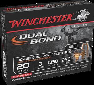 Winchester- Ammo SSDB203 Dual Bond Bonded Dual Jacket Sabot 20 Gauge 3 260 GR 5 Bx/ 20 Cs