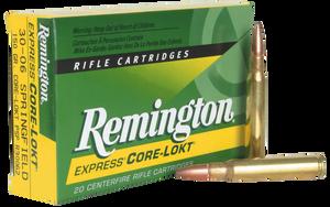 Remington Ammunition- R30062 Core-Lokt  30-06 Springfield 150 GR Core-Lokt Pointed Soft Point 20 Bx/ 10 Cs
