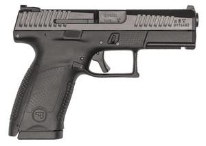 CZ 91531- P-10 C 9mm Luger Double 4 15+1 Polymer Grip Black Polymer Frame Nitride Slide