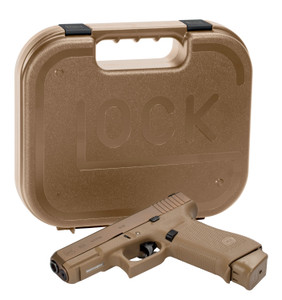 """Glock UX1950703 G19X Crossover 9mm Luger 4.02"""" 17+1 Bronze Nitron Coyote Interchangeable Backstrap Grip"""