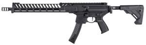 "Sig Sauer RMPX16B9 MPX PCC 9mm Luger 16"" 30+1 Black Hard Coat Anodized 5 Position Folding Stock"