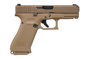 "Glock PX1950703 G19X 9mm Luger 4.02"" 17+1 Bronze Nitron Coyote Interchangeable Backstrap Grip Glock Night Sights"