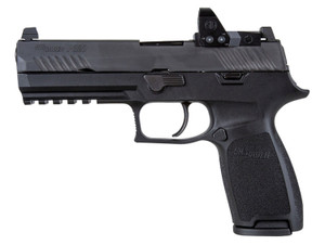 """Sig Sauer 320F9BRXP P320 Full Size 9mm Luger 4.70"""" 17+1 Black Black Polymer Grip with Romeo1 Pro"""