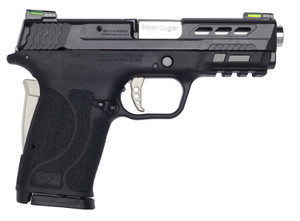 "Smith & Wesson 13226 M&P 9 Shield EZ Performance Center 9mm Luger 3.83"" 8+1 Matte Black Black Polymer Grip No Thumb Safety Silver Anodized Ported Barrel"