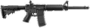 Ruger -8500 AR-556  223 Rem5.56 NATO 16.10 30+1 Black Hardcoat Anodized Black 6 Position Stock