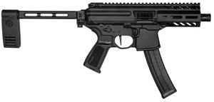 "Sig Sauer PMPX4B9 MPX K 9mm Luger 4.50"" 30+1 Black Hard Coat Anodized Black Polymer PCB Folding"
