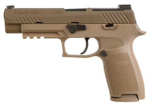 Sig Sauer -320F9M17 P320 M17 9mm Luger Double 4.70 17+1 Coyote Polymer Grip Coyote Stainless Steel PVD Slide