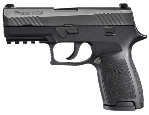 Sig Sauer -320C9B P320 Compact 9mm Luger 3.90 15+1 Black Polymer Grip Black Nitron Stainless Steel